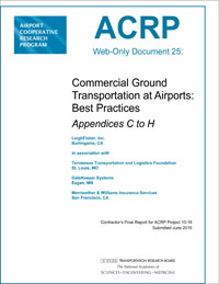 Commercial Ground Transportation at Airports: Best Practices