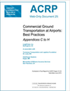 Commercial Ground Transportation at Airports: Best Practices-Appendices C to H