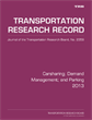 Carsharing; Demand Management; and Parking 2013