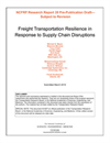 Freight Transportation Resilience in Response to Supply Chain Disruptions