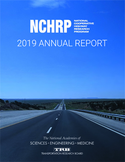 Image of NCHRP 2019 Annual Report cover