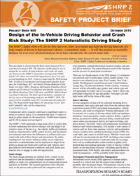 Design of the In-Vehicle Driving Behavior and Crash Risk Study: The SHRP 2 Naturalistic Driving Study
