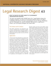 Effect of MUTCD on Tort Liability of Government Transportation Agencies