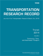 Transit 2014, Volume 2: Carsharing, Taxis, and Automated Transport