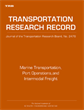 Marine Transportation, Port Operations, and Intermodal Freight