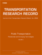 Public Transportation: Paratransit and Emerging Technologies 2015