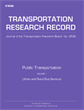 Public Transportation: Volume 1, Urban and Rural Bus Service
