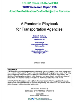 A Pandemic Playbook for Transportation Agencies