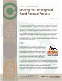 Meeting the Challenges of Rapid Renewal Projects