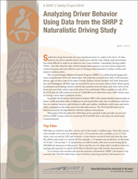Analyzing Driver Behavior Using Data from the SHRP 2 Naturalistic Driving Study