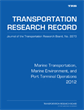 Marine Transportation, Marine Environment, and Port Terminal Operations 2012