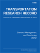 Demand Management and Carsharing 2012