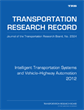 Intelligent Transportation Systems and Vehicle–Highway Automation 2012