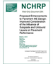 NCHRP Web-Only Document 264: Proposed Enhancements to Pavement ME Design: Improved Consideration of the Influence of Subgrade and Unbound Layers on Pavement Performance