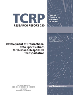Development of Transactional Data Specifications for Demand-Responsive Transportation
