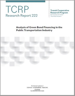 Analysis of Green Bond Financing in the Public Transportation Industry