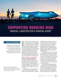TR News: Radical logistics in the heavy traffic of the Burning Man Festival