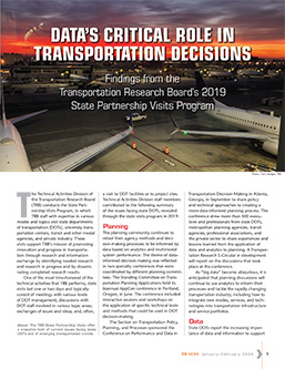 TR News: Data's Critical Role in Transportation Decisions