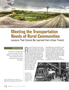 TR News: Meeting the Transportation Needs of Rural Communities