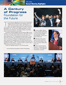 TR News 326: A Century of Progress ... Foundation for the Future