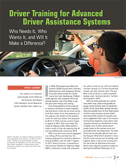 TR News 326: Driver Training for Advanced Driver Assistance Systems