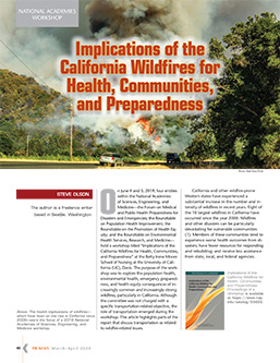 TR News 326: Implications of the California Wildfires for Health, Communities, and Preparedness