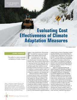 TR News 331 January-February 2021: Evaluating Cost Effectiveness of Climate Adaptation Measures