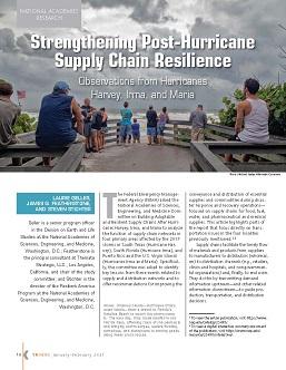 TR News 331 January-February 2021: Strengthening Post-Hurricane Supply Chain Resilience