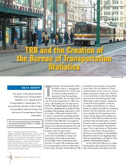 TR News 332 March-April 2021: TRB and the Creation of the Bureau of Transportation Statistics