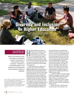 TR News 333 May-June 2021: Diversity and Inclusion in Higher Education: Two Case Examples