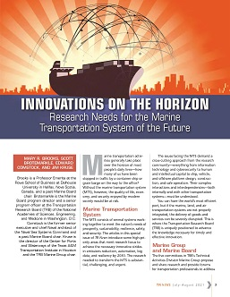 TR News 334 July-August 2021: Innovations on the Horizon: Research Needs for the Marine Transportation System of the Future