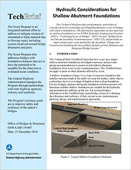 Hydraulic Considerations for Shallow Abutment Foundations