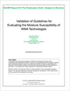 Validation of Guidelines for Evaluating the Moisture Susceptibility of WMA Technologies