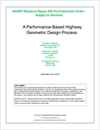 A Performance-Based Highway Geometric Design Process