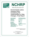Environmental Justice Analyses When Considering Toll Implementation or Rate Changes—Final Report
