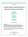 Long-Term Aging of Asphalt Mixtures for Performance Testing and Prediction