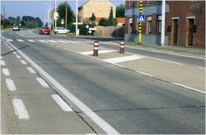 Photo of Belgium's first concrete overlay after 45 years of service